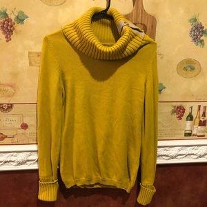 Banana Republic mustard turtleneck sweater